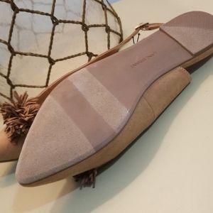 Lane Bryant Shoes - Floufy Tan Slingbacks, Flat